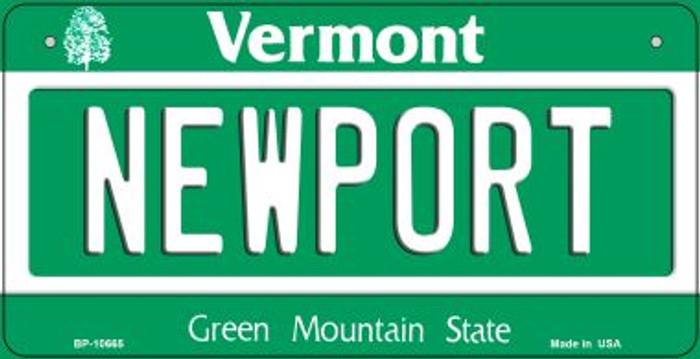 Newport Vermont Novelty Metal Bicycle Plate BP-10665