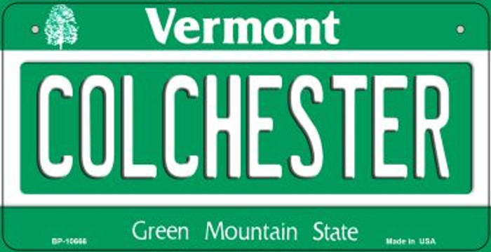 Colchester Vermont Novelty Metal Bicycle Plate BP-10666