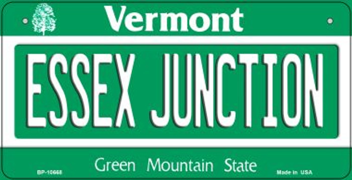 Essex Junction Vermont Novelty Metal Bicycle Plate BP-10668