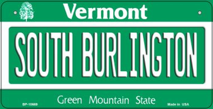 South Burlington Vermont Novelty Metal Bicycle Plate BP-10669