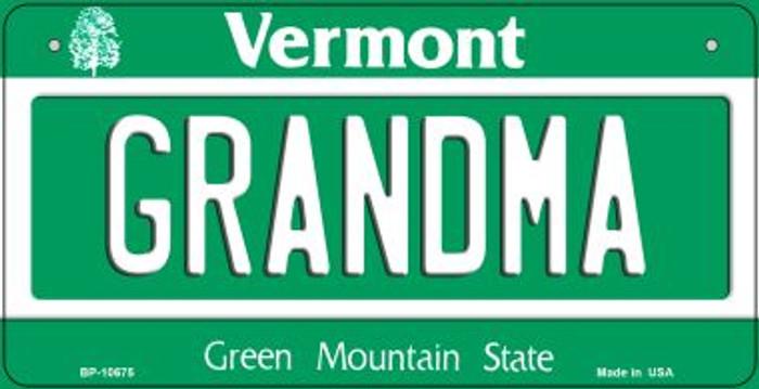 Grandma Vermont Novelty Metal Bicycle Plate BP-10675