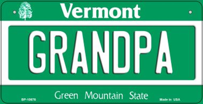 Grandpa Vermont Novelty Metal Bicycle Plate BP-10676