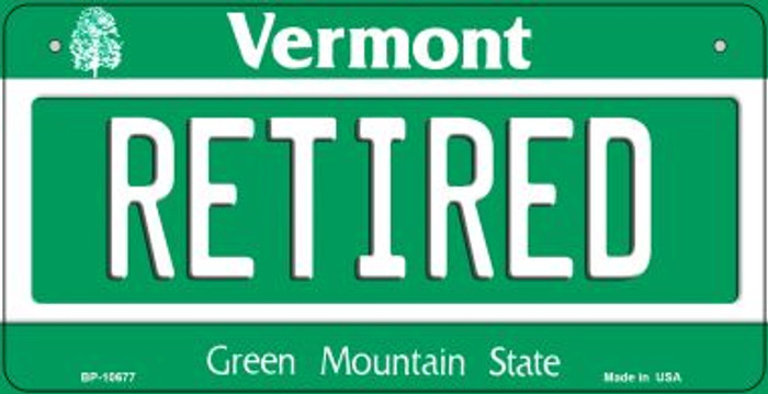 Retired Vermont Novelty Metal Bicycle Plate BP-10677