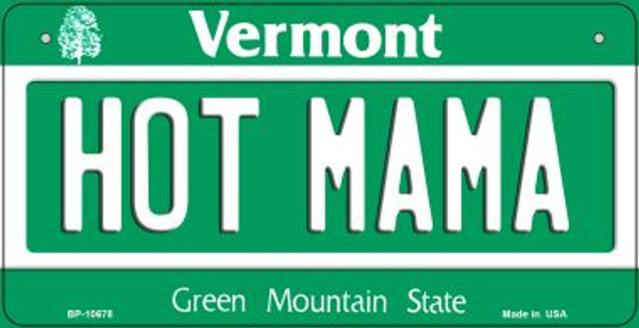 Hot Mama Vermont Novelty Metal Bicycle Plate BP-10678