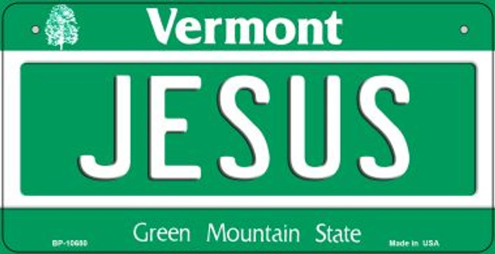 Jesus Vermont Novelty Metal Bicycle Plate BP-10680