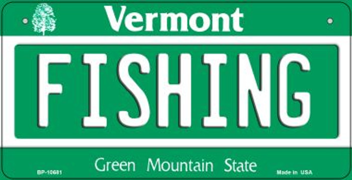 Fishing Vermont Novelty Metal Bicycle Plate BP-10681