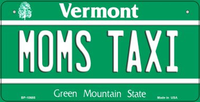 Moms Taxi Vermont Novelty Metal Bicycle Plate BP-10685