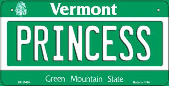 Princess Vermont Novelty Metal Bicycle Plate BP-10686