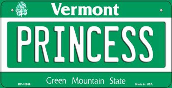 Princess Vermont Novelty Metal Bicycle Plate BP-10686