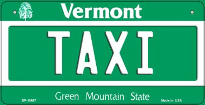 Taxi Vermont Novelty Metal Bicycle Plate BP-10687