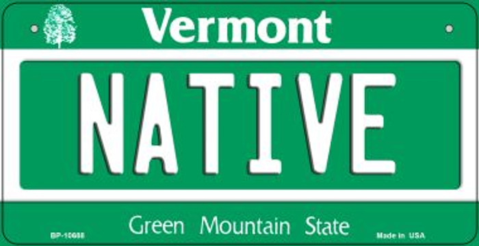 Native Vermont Novelty Metal Bicycle Plate BP-10688