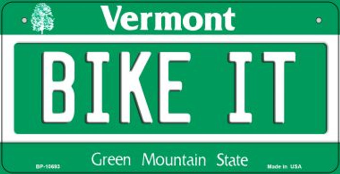 Bike It Vermont Novelty Metal Bicycle Plate BP-10693