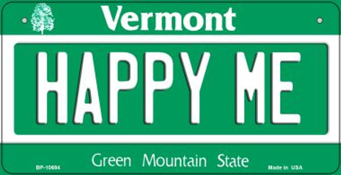 Happy Me Vermont Novelty Metal Bicycle Plate BP-10694