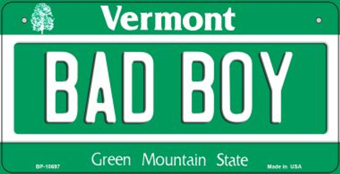 Bad Boy Vermont Novelty Metal Bicycle Plate BP-10697