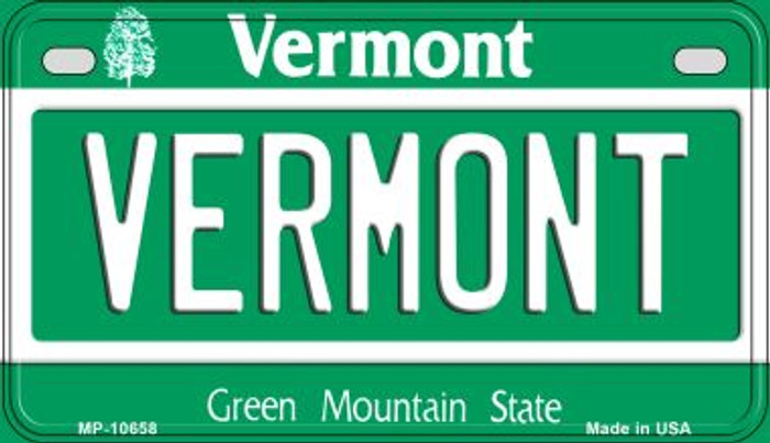 Vermont Novelty Metal Motorcycle Plate MP-10658