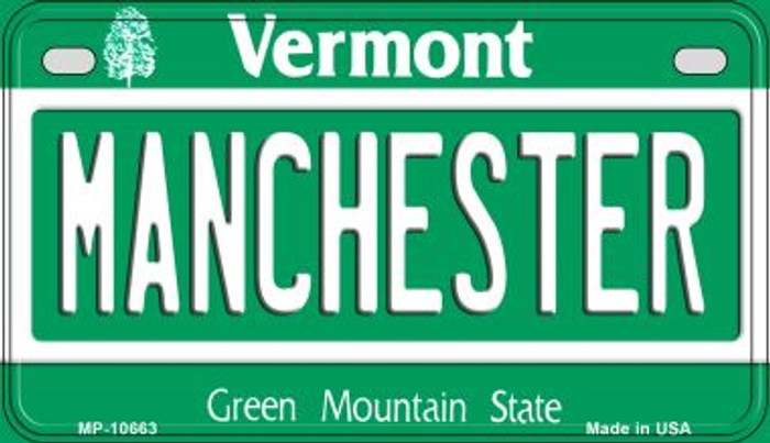 Manchester Vermont Novelty Metal Motorcycle Plate MP-10663