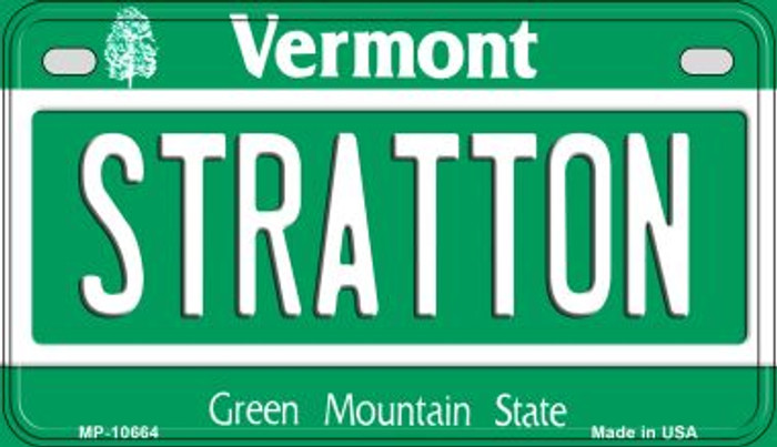 Stratton Vermont Novelty Metal Motorcycle Plate MP-10664