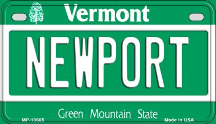 Newport Vermont Novelty Metal Motorcycle Plate MP-10665