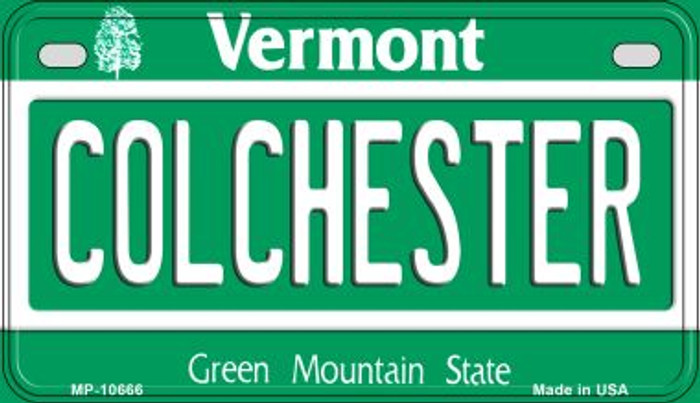 Colchester Vermont Novelty Metal Motorcycle Plate MP-10666