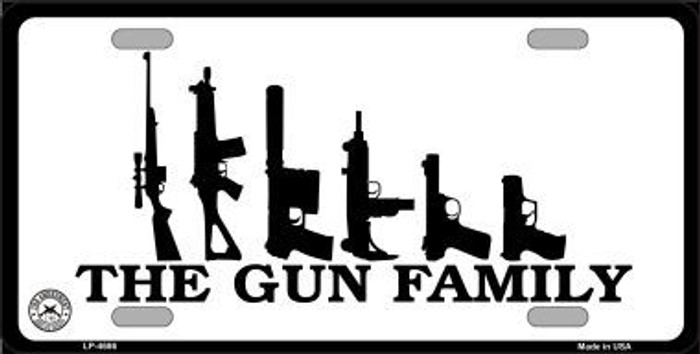 The Gun Family Metal Novelty License Plate