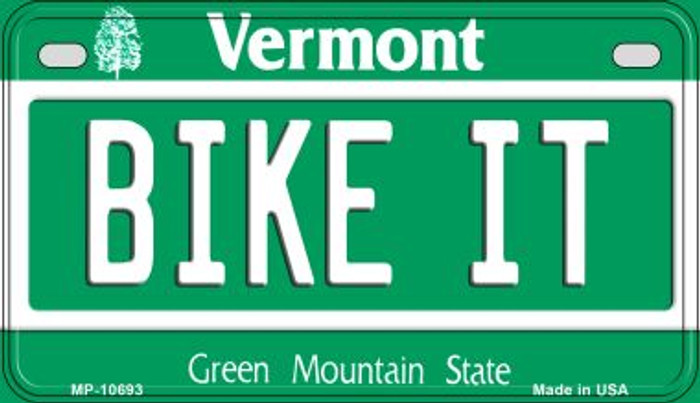 Bike It Vermont Novelty Metal Motorcycle Plate MP-10693