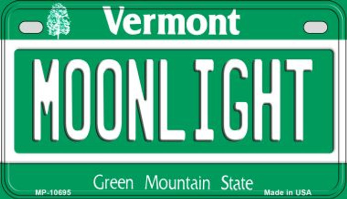 Moonlight Vermont Novelty Metal Motorcycle Plate MP-10695