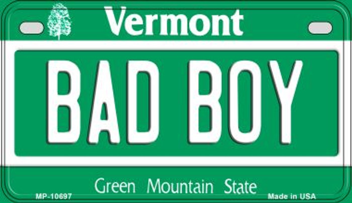 Bad Boy Vermont Novelty Metal Motorcycle Plate MP-10697