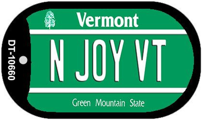 N Joy VT Vermont Novelty Metal Dog Tag Necklace DT-10660