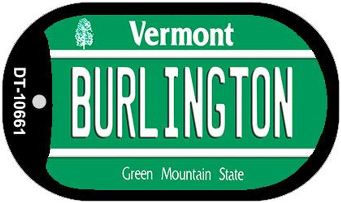 Burlington Vermont Novelty Metal Dog Tag Necklace DT-10661
