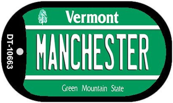 Manchester Vermont Novelty Metal Dog Tag Necklace DT-10663