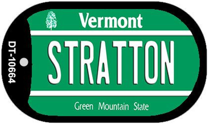 Stratton Vermont Novelty Metal Dog Tag Necklace DT-10664