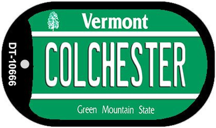 Colchester Vermont Novelty Metal Dog Tag Necklace DT-10666