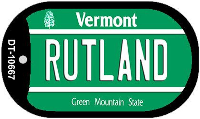 Rutland Vermont Novelty Metal Dog Tag Necklace DT-10667