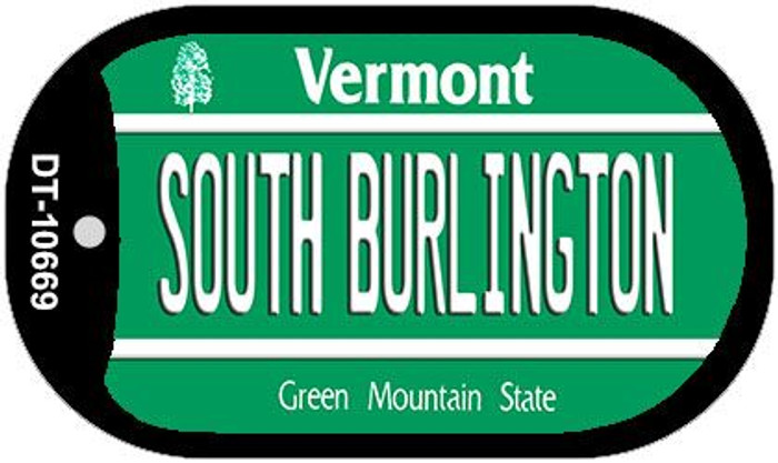 South Burlington Vermont Novelty Metal Dog Tag Necklace DT-10669
