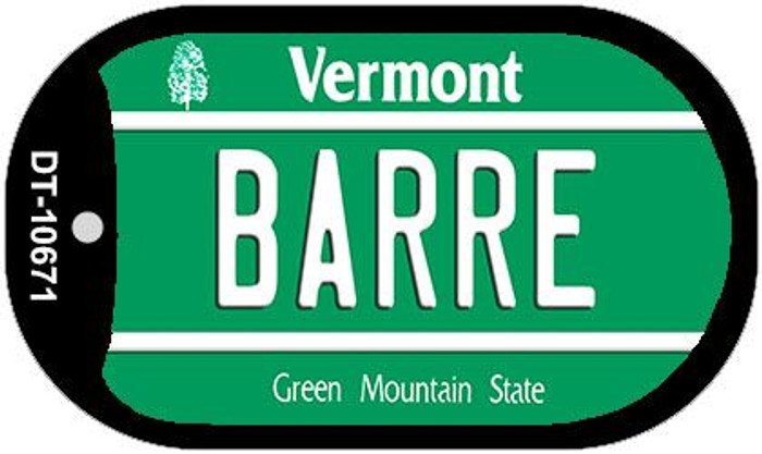 Barre Vermont Novelty Metal Dog Tag Necklace DT-10671