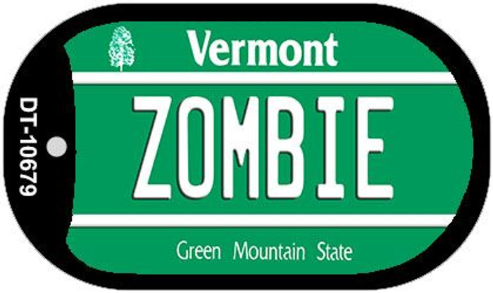 Zombie Vermont Novelty Metal Dog Tag Necklace DT-10679