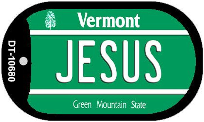 Jesus Vermont Novelty Metal Dog Tag Necklace DT-10680