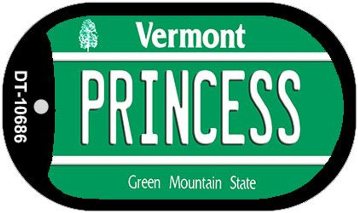 Princess Vermont Novelty Metal Dog Tag Necklace DT-10686