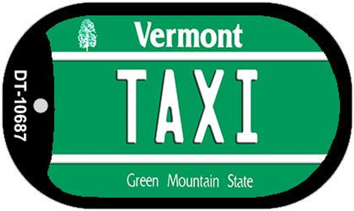 Taxi Vermont Novelty Metal Dog Tag Necklace DT-10687