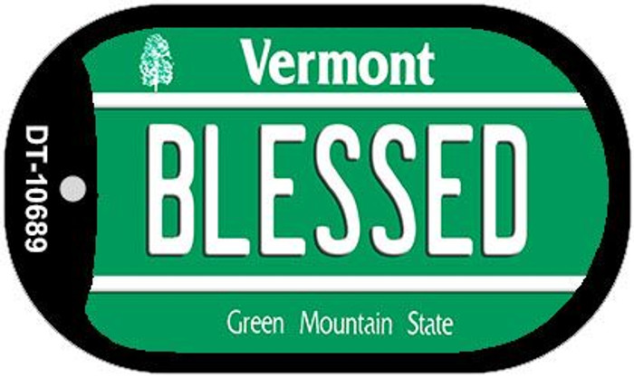Blessed Vermont Novelty Metal Dog Tag Necklace DT-10689