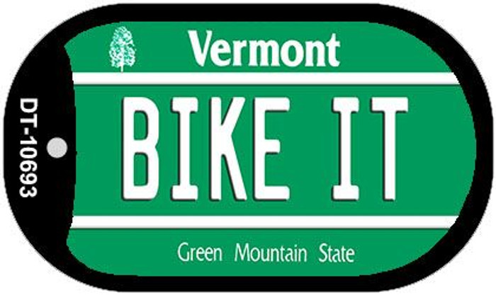 Bike It Vermont Novelty Metal Dog Tag Necklace DT-10693