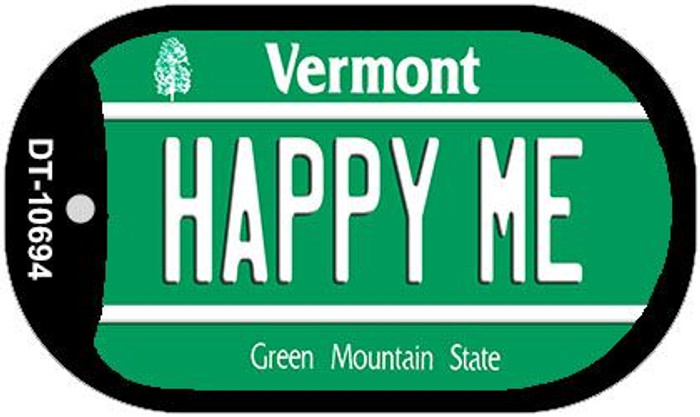 Happy Me Vermont Novelty Metal Dog Tag Necklace DT-10694