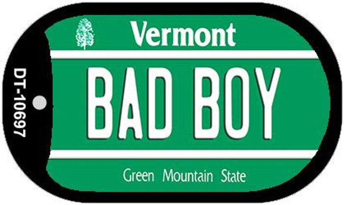 Bad Boy Vermont Novelty Metal Dog Tag Necklace DT-10697