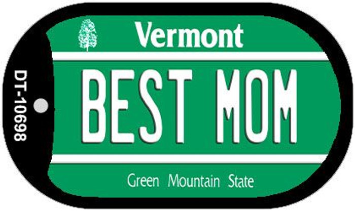 Best Mom Vermont Novelty Metal Dog Tag Necklace DT-10698