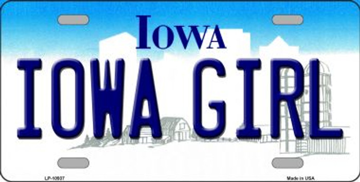 Iowa Girl Iowa Novelty Metal License Plate LP-10937