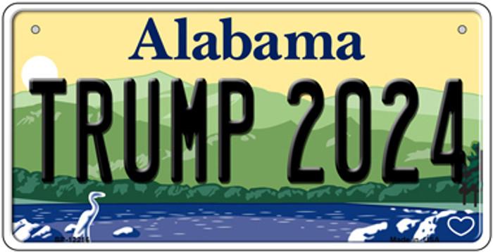 Trump 2024 Alabama Novelty Metal Bicycle Plate BP-12216