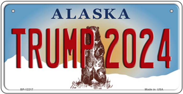 Trump 2024 Alaska Novelty Metal Bicycle Plate BP-12217