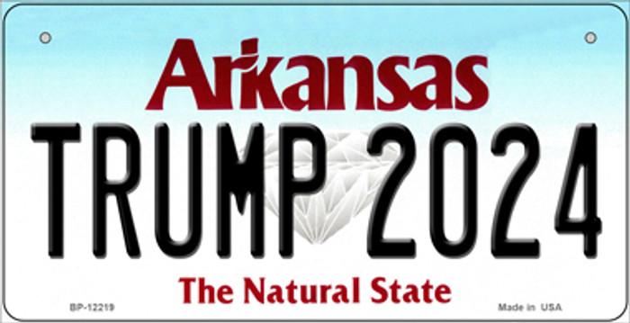 Trump 2024 Arkansas Novelty Metal Bicycle Plate BP-12219