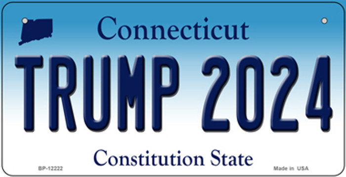 Trump 2024 Connecticut Novelty Metal Bicycle Plate BP-12222
