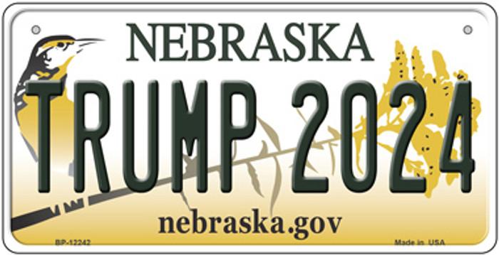 Trump 2024 Nebraska Novelty Metal Bicycle Plate BP-12242